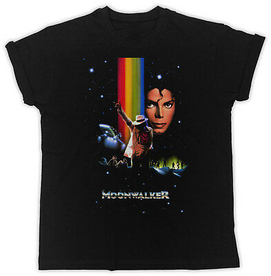 Cool Moonwalker Michael Jackson Poster Slogan Ideal Gift Unisex Black T-Shirt
