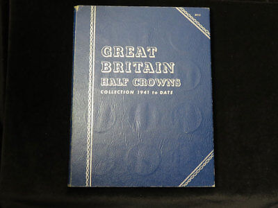 Whitman Folder : Great Britain Half Crowns Collection 1941 to date (1967)