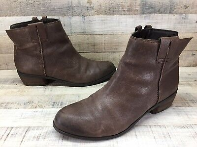 62f8cb039 SAM EDELMAN JAMES Brown Leather Ankle Boots Women s Shoes Size 9.5 M ...