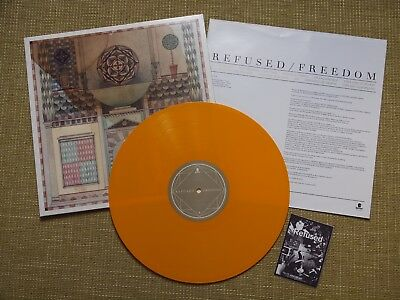REFUSED - FREEDOM LP yellow colored 1.press * at the drive in * fugazi