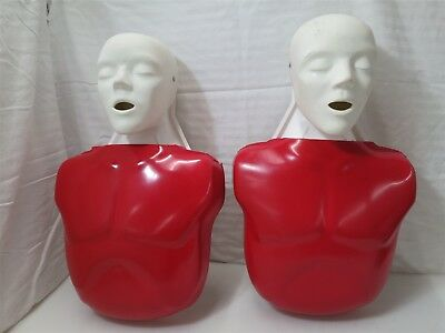 Pair of Nasco Basic Buddy Adult CPR Manikin LF03693 Lot of 2
