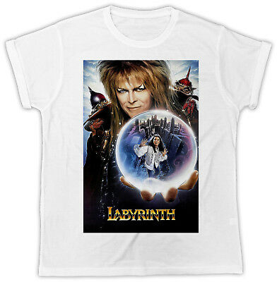 Cool David Bowie Labyrinth Movie Poster Ideal Present Unisex Retro Cool Tshirt