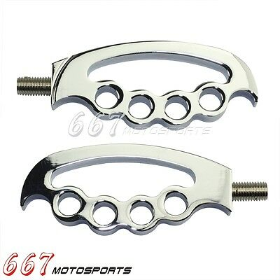 "1Pair Aluminum Knuckle Style 8mm Shifter Peg 3.8"" For Harley Davidson 883R 883L"