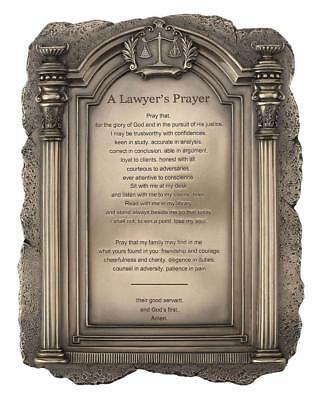 Scales of Justice - A Lawyer's Prayer Plaque Desktop or Wall Mount Sculpture