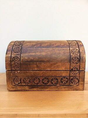 Old Wooden Domed Top Box