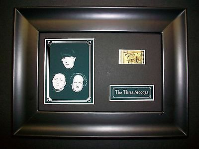 THREE STOOGES Movie Film Cell Memorabilia - Compliments poster dvd book