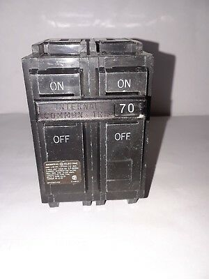 General Electric Thql2170 2 Pole, 70 Amp 120/240V Circuit Breaker  New