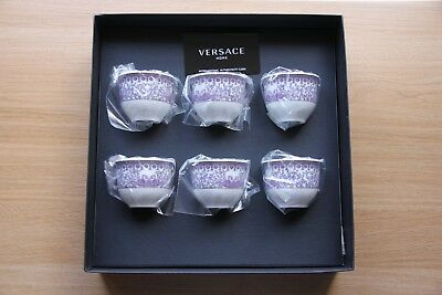 Set of 6 Versace Cups - Rosenthal Versace Le Grand Divertissement, Rare and BNIB