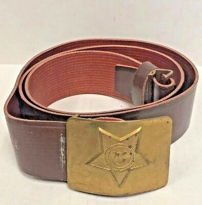 Russian Army Belt and Buckle with Metal Clasp