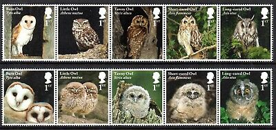 GB Stamps 2018 Owls Set of 10  MNH