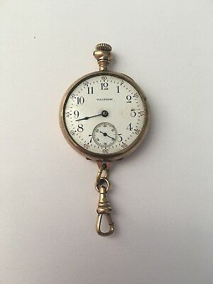 Waltham Pocket Watch Mass Women Gold Filled Open Face Pendant 1800s