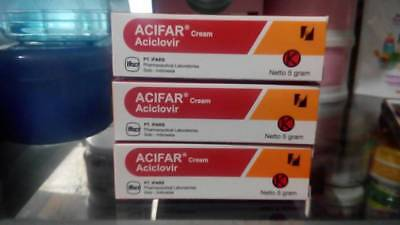 (3 Tube x 5 Grams) Acifar Aciclovir Cream Skin Care Cream from IFARS