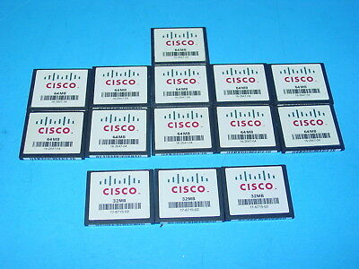 Cisco 64 MB, 32 MB CF Compact Flash Memory Card (Mixed Lot of 14)