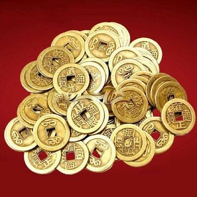 10x Feng Shui Lucky Chinese Fortune Coin Oriental Emperor Qing Money I Ching Set