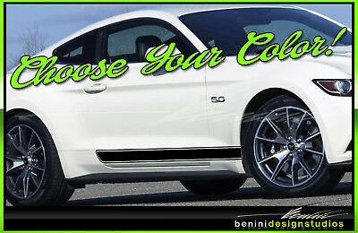 2015 2016 2017 2018 Mustang Vinyl Racing Stripe Spears GT Roush Shelby Style 1