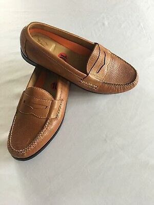 Cole Haan Light Brown Leather Mens Driving Mocassins Loafers Sz 10 Slip On Fall