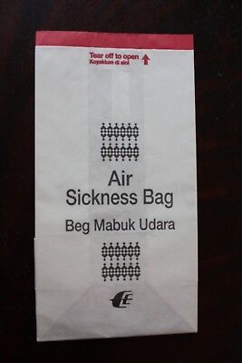 Air Sickness Bag Spuckbeutel Malaysia Airlines Old