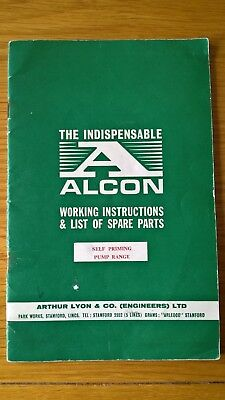 Alcon Centrifugal Pump Working Instructions & Spare Parts Manual