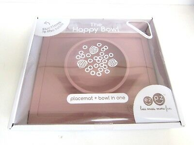 NEW ezpz The HAPPY BOWL Placemat + Bowl in One Baby Toddler Feeding Silicone