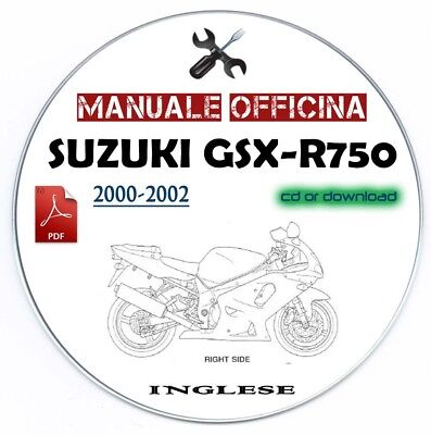 Manuale Officina Suzuki GSX R 750 (2000-2002) Workshop Manual Service Repair
