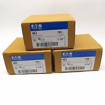 """Lot Of 30 Eaton Crouse-Hinds 463 Set Screw Coupling 1-1/4"""""""