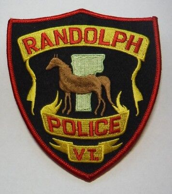 Randolph Vermont Police Horse Patch Unused
