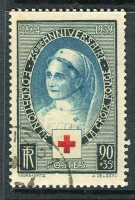 FRANCE; 1939 early Red Cross issue fine Mint hinged value
