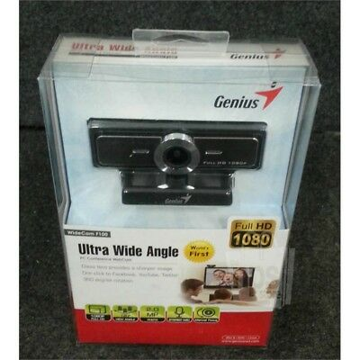 Genius WideCam F100 Ultra Wide Angle PC Conference Webcam Full HD 1080p 2MP