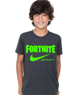 Fortnite Official Logo Boys Black T-shirt Battle Royale Top Gamers Tee Moderate Price Kids' Clothes, Shoes & Accs.