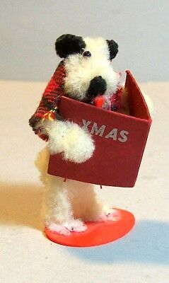 Little Old Chenille Dog Singing Christmas Carols