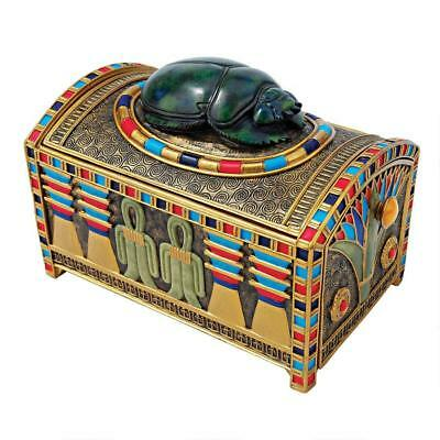 Royal Secret Hidde Compartment Egyptian Scarab Treasure Trinket Box