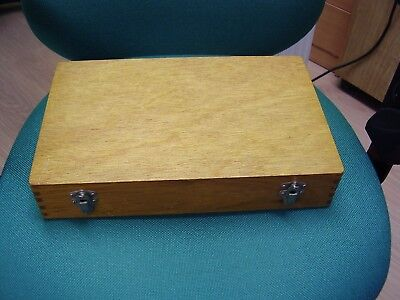 "Vintage WOOD 35mm Slide Box Case - JRD "" Golden Guinea ""."