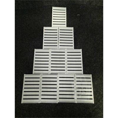 Box of 10 Phoenix Contact 0818085 Terminal Block Marker Cards, 80 Markers/Card