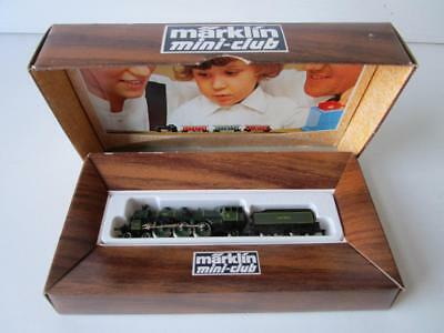 Vintage Marklin Z Scale Mini - Club No 8892 Locomotive And Tender S 3/6 Bavaria