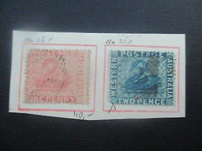 Western Australia Stamps: Variety selection Used  (k150