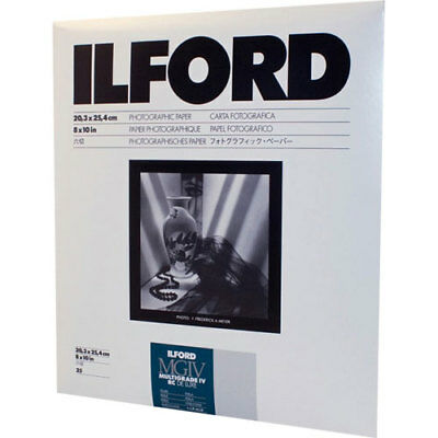 Ilford Multigrade IV RC Deluxe Glossy 8x10 25 Sheets