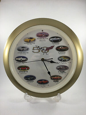 Corvette Wall Clock 50Th Anniversary With 12 Different Engine Sounds