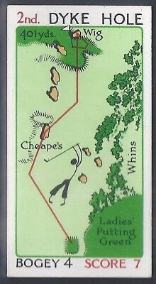 Churchman-Can You Beat Bogey At St Andrews (No Overprint)-#06- Quality Golf Card