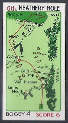 Churchman-Can You Beat Bogey At St Andrews (No Overprint)-#18- Quality Golf Card