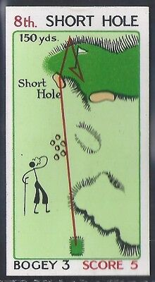 Churchman-Can You Beat Bogey At St Andrews (No Overprint)-#24- Quality Golf Card
