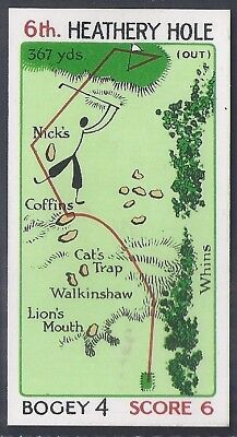 Churchman-Can You Beat Bogey At St Andrews(Red Overprint)-#18- Quality Golf Card
