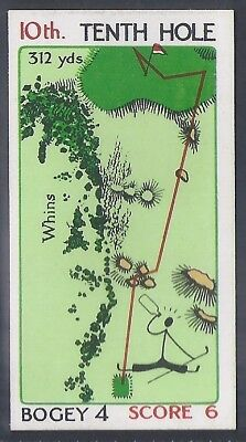 Churchman-Can You Beat Bogey At St Andrews(Red Overprint)-#30- Quality Golf Card