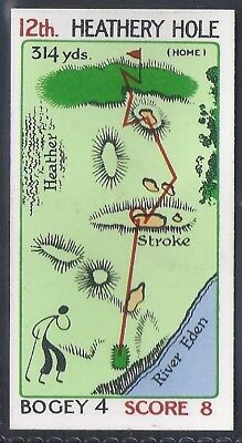 Churchman-Can You Beat Bogey At St Andrews(Red Overprint)-#36- Quality Golf Card