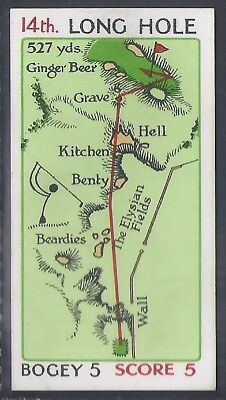 Churchman-Can You Beat Bogey At St Andrews(Red Overprint)-#40- Quality Golf Card