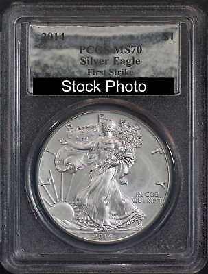2014 American Silver Eagle First Strike PCGS MS-70 Silver Foil Label -119156