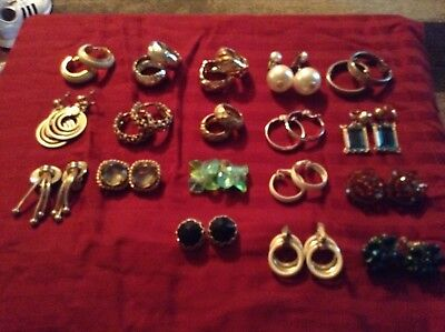 Vintage... Nice Lot of 33 sets. All Clip On Earrings