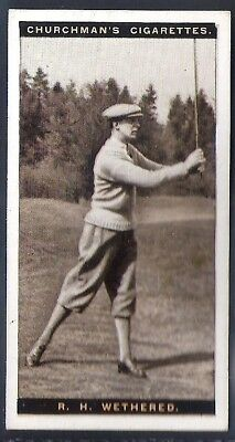 Churchman-Famous Golfers Golf (Standard Size)-#48- Roger H Wethered
