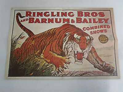 """Ringling Bros and Barnum & Bailey Poster 25"""" x 17"""" Vintage Reproduction"""
