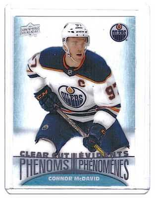 Connor McDavid 2018-19 Upper Deck Tim Hortons Clear Cut Phenoms Card #CC1