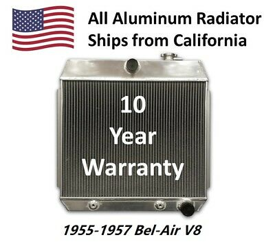 OPL Aluminum Radiator for 1955-19657 Chevy Bel-Air V8 with Trans Cooler Bel Air